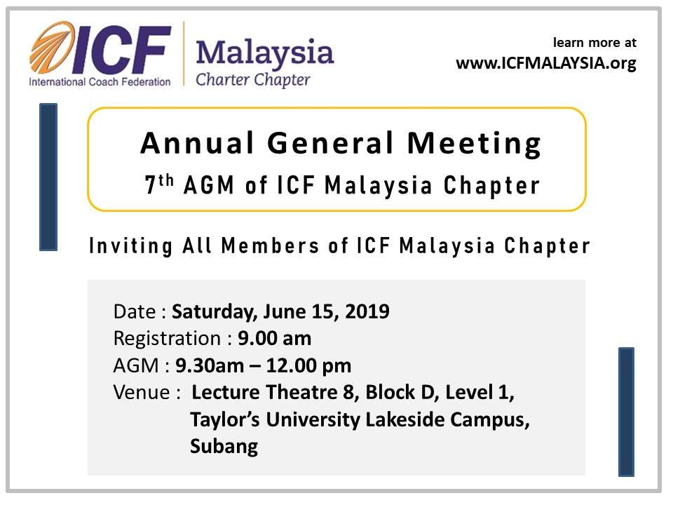 AGM - ICF Malaysia Chapter