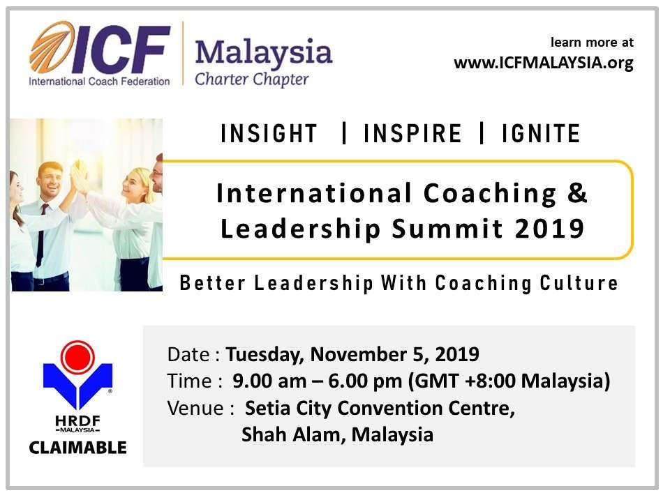 International Coaching & Leadership Summit 2019 Malaysia