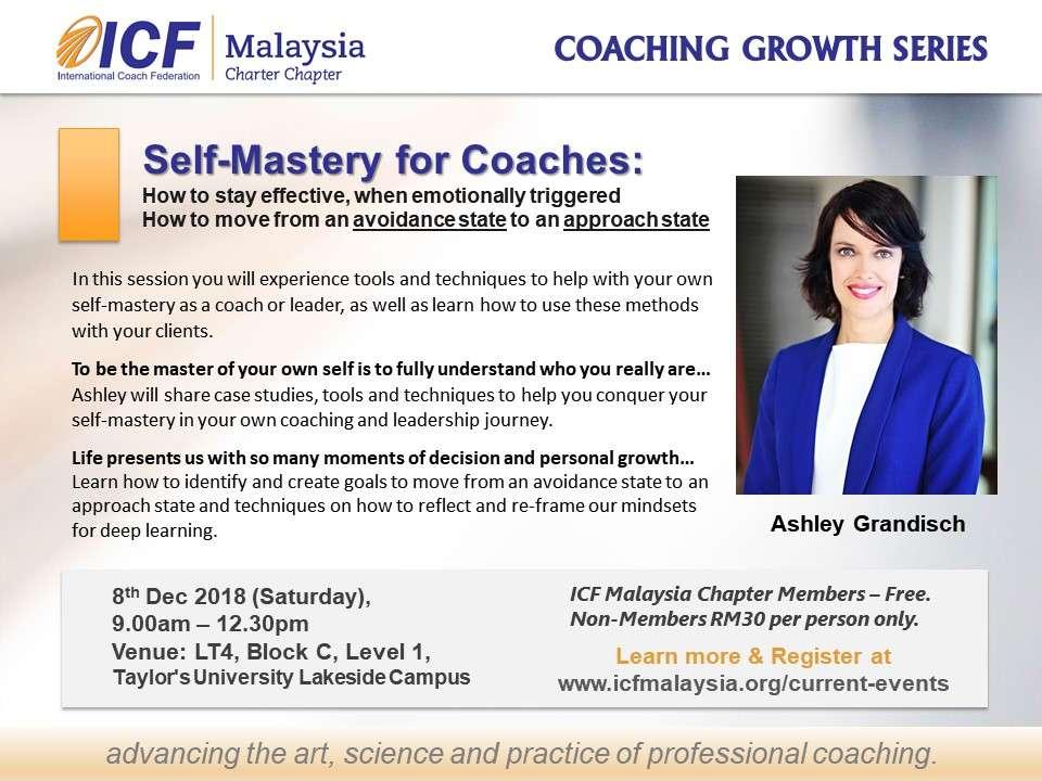 ICF Malaysia Workshop Coach Ashley Grandisch, ACC