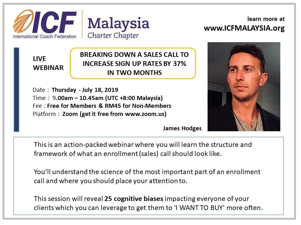 ICF Malaysia Live Webinar by James Hodges