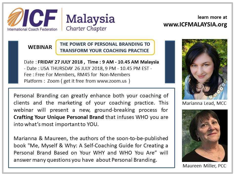 ICF Malaysia Webinar On Personal Branding