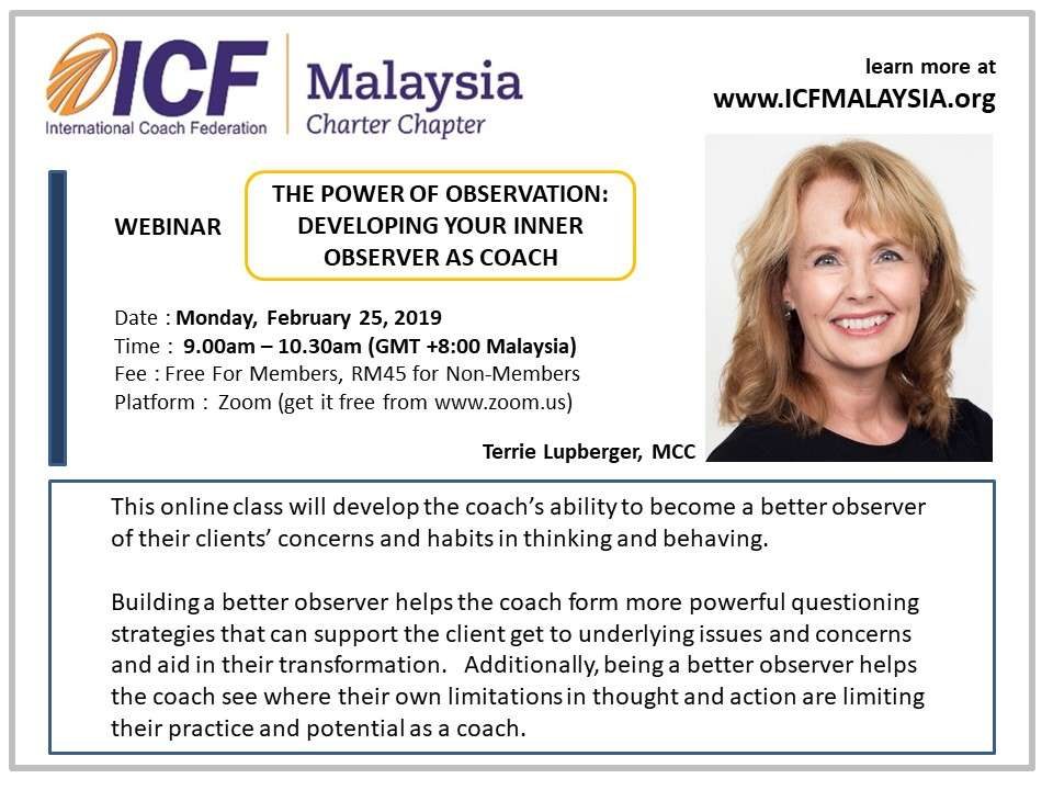 ICF Malaysia Webinar Terrie Lupberger