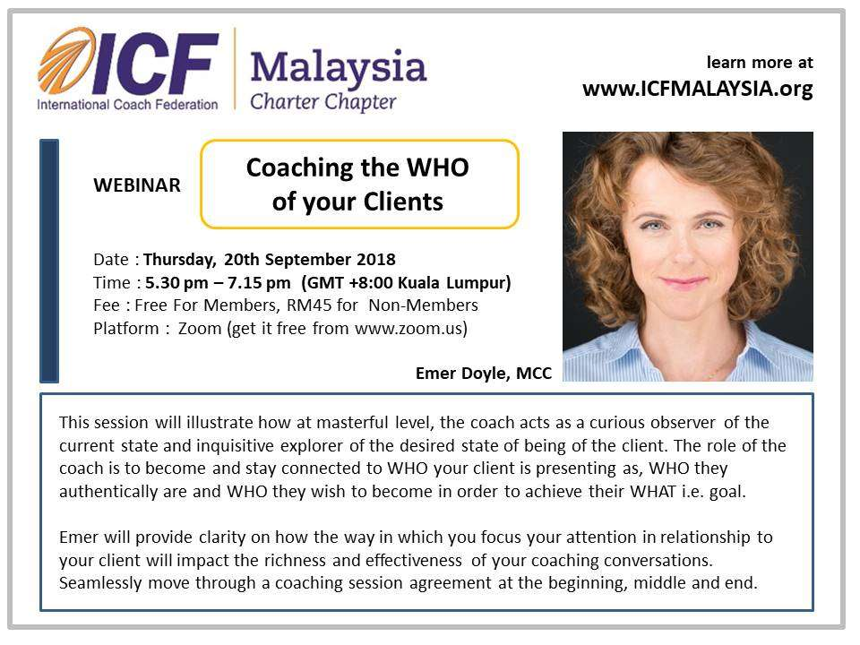 ICF Malaysia Webinar - Coaching The Who