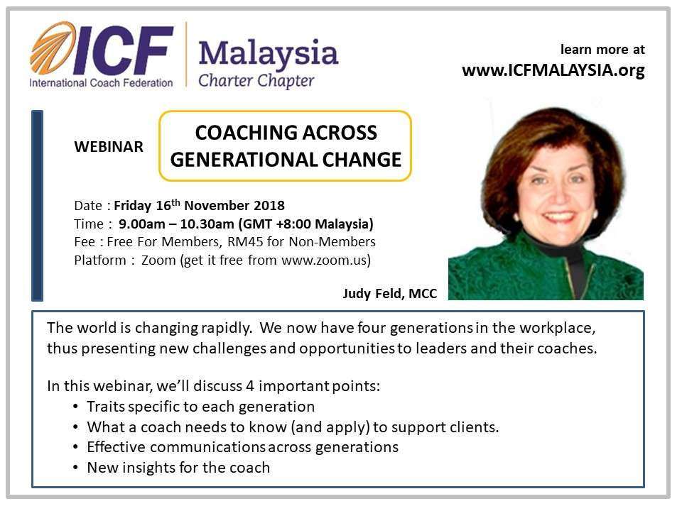 ICF Malaysia Webinar Coach Judy Feld MCC